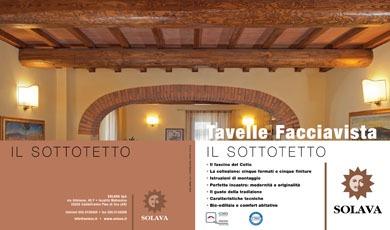 Nuova Brochure Tavelle Sottotetto a Vista